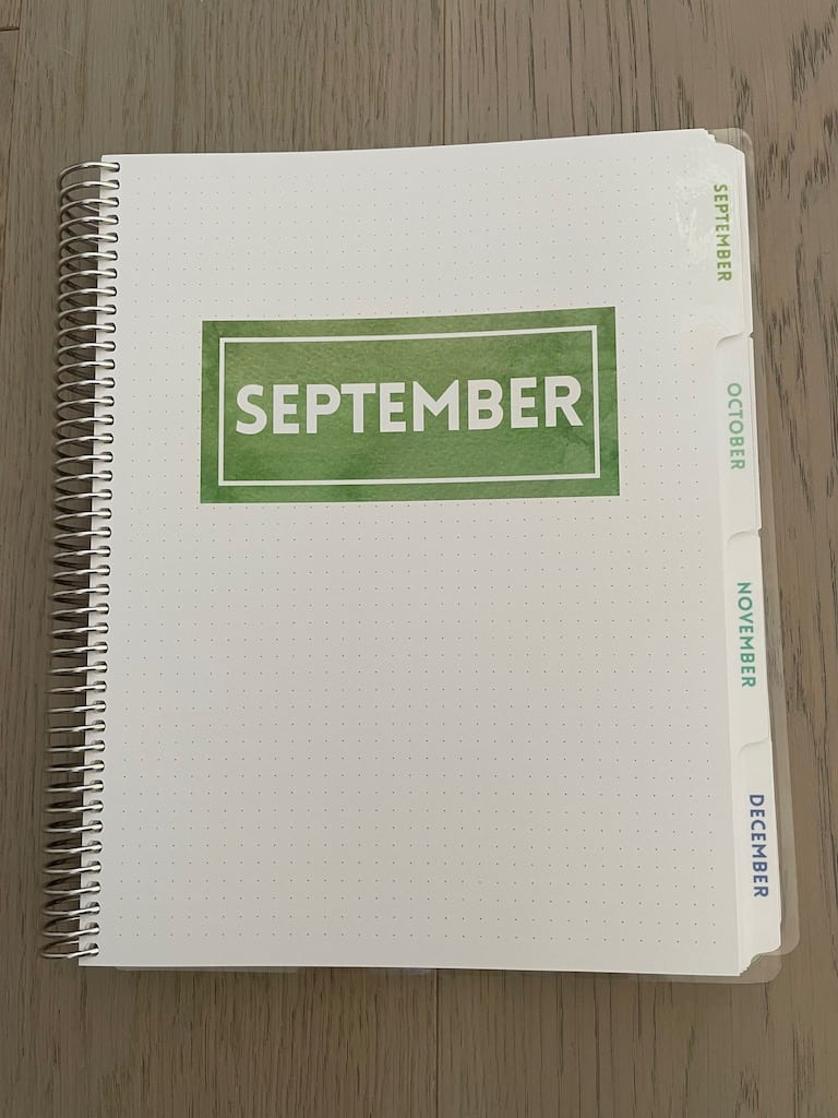 planner cover page September