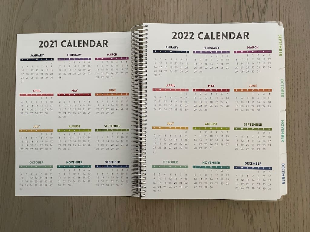 planner years at a glance 2021 2022